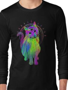 Psychic Psychedelic Cat Long Sleeve T-Shirt