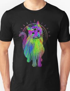 Psychic Psychedelic Cat Unisex T-Shirt