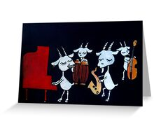 4 Beats 4 Goats Greeting Card