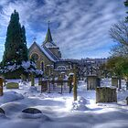 Mickleham Church. Surrey. UK. by Kevin  Ferris Photography