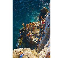 Hedonists' playground, Cafe Buza, Dubrovnik, Croatia Photographic Print