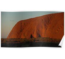 Uluru (Ayres Rock) at sunset Poster