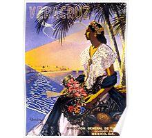 Veracruz Mexico Vintage Travel Poster Restored Poster