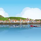 Staithes Vector Art by Andrew Young