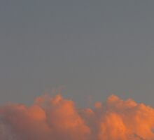 crescent moon at sunset by Leeanne Middleton