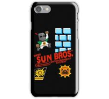 super sun bros. iPhone Case/Skin
