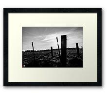Sticks & Stones Framed Print
