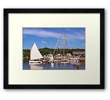 Seaport Scenery Framed Print