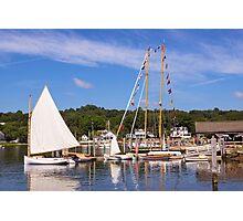 Seaport Scenery Photographic Print