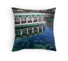 The Glass Bottom Boat Throw Pillow