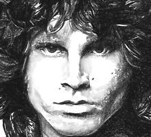 Sketch of Jim Morrison THE LIZARD KING by CharliFaure