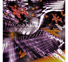 In A World of Butterflies and Fireflies (Image and Poem) Photographic Print