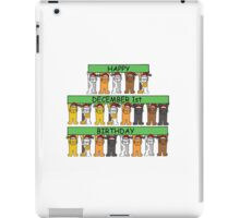 Cats celebrating birthdays on December 1st. iPad Case/Skin