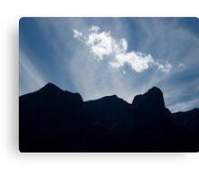 Mountain Silhoutte Canvas Print