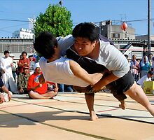 Sumo Tournament in downtown (3) , OSAKA    JAPAN by yoshiaki nagashima