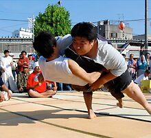 Sumo Tournament in downtown (3) , OSAKA    JAPAN by yoshiaki nagashima