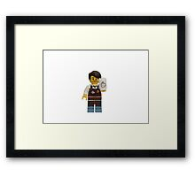 LEGO Larry the Barista Framed Print
