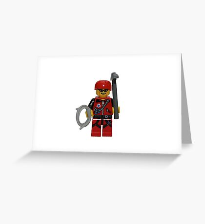 LEGO Climber with Ice Axe and Rope Greeting Card