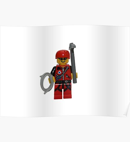 LEGO Climber with Ice Axe and Rope Poster