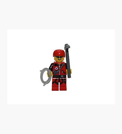 LEGO Climber with Ice Axe and Rope Photographic Print