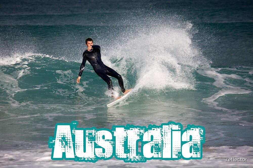 Surfing Australia by reflector