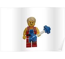LEGO Weightlifter Poster