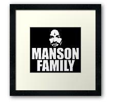 Charles Manson - Manson Family - black / white Framed Print