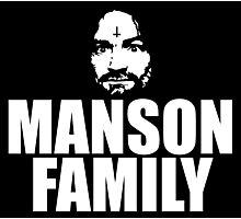 Charles Manson - Manson Family - black / white Photographic Print