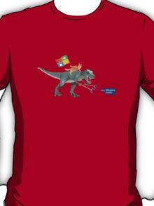 Windows 10 Ninja Cat on T-Rex T-Shirt