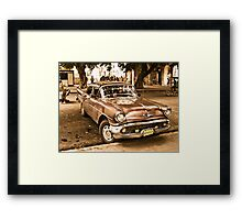 Old Taxi Framed Print
