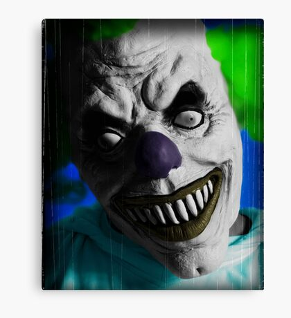"""Stephen King """"IT"""" Inspired - Scary Clown Canvas Print"""