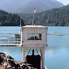 Hydroelectric Plant and Glines Canyon Dam on Lake Mills  by Stacey Lynn Payne