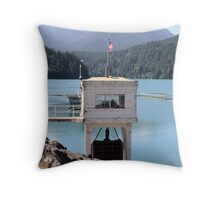 Hydroelectric Plant and Glines Canyon Dam on Lake Mills  Throw Pillow
