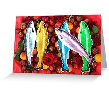 Fish in a fruit salad Greeting Card