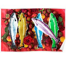 Fish in a fruit salad Poster