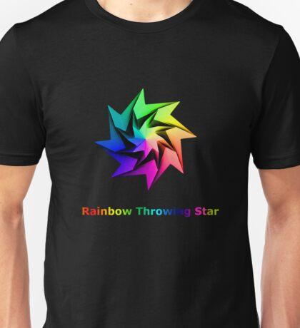 Rainbow Throwing Star Unisex T-Shirt