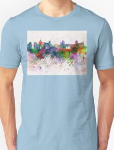 Palermo skyline in watercolor background T-Shirt