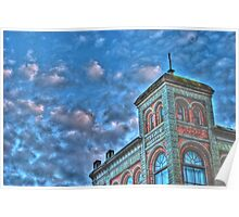 Old Elks Building in Port Townsend , Washington  Poster