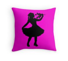 Oh Honey, You KNEW!! (Black Silhouette 2) Throw Pillow