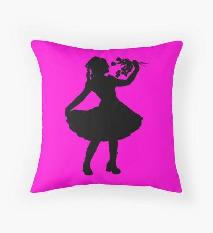 Oh Honey, You KNEW!! (Black Silhouette 2) Throw Pillow