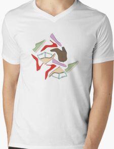 Shoe Pattern Mens V-Neck T-Shirt