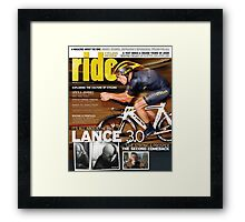 RIDE Cycling Review Issue 43 - Lance Armstrong Framed Print