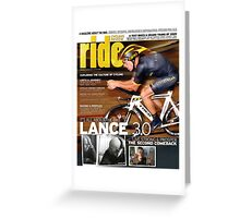 RIDE Cycling Review Issue 43 - Lance Armstrong Greeting Card