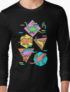 Nineties Dinosaurs Pattern Long Sleeve T-Shirt