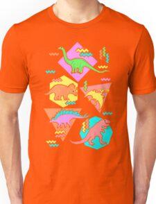 Nineties Dinosaurs Pattern Unisex T-Shirt