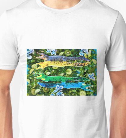 Crocodiles in a green salad Unisex T-Shirt