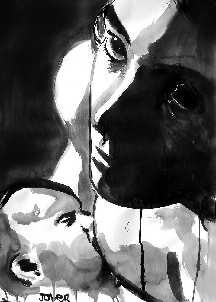 mother and child by Loui  Jover
