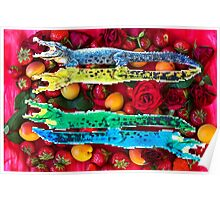 Crocodiles in a fruit salad Poster