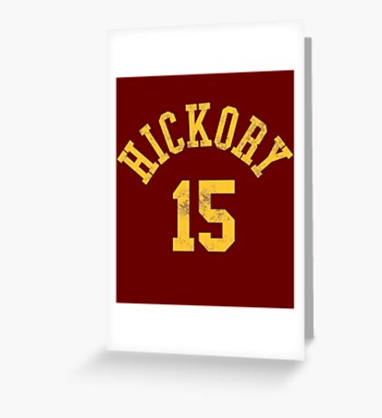 Hoosiers Movie Jimmy Chitwood Jersey Greeting Card
