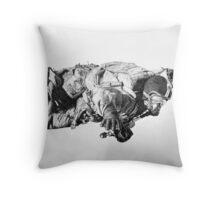 HALO jump Throw Pillow
